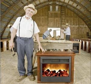 Amish weilding hammer