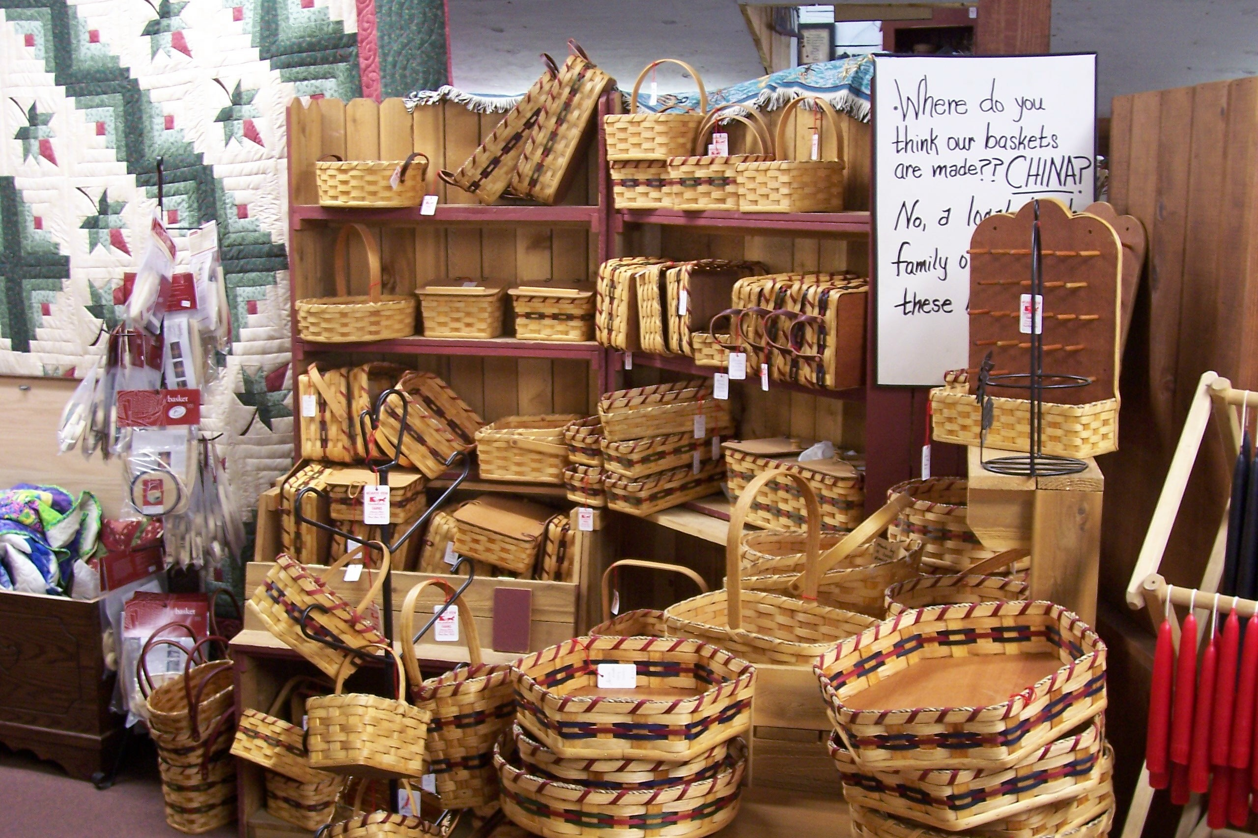 Handmade Baskets From Ohio : Amish feel the pinch a special report ship in night